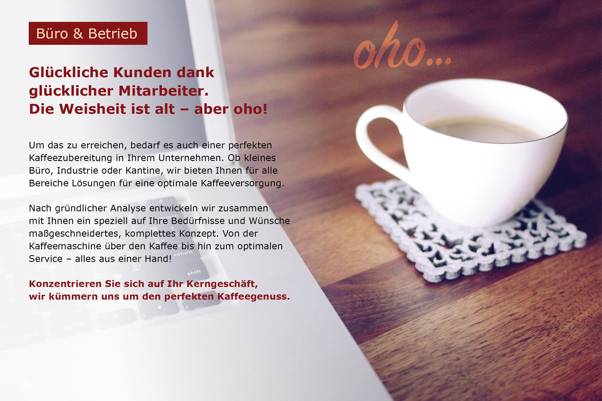 Ich such eine Kaffeemaschine für mein Büro oder Betrieb - cafeum GmbH Herbolzheim